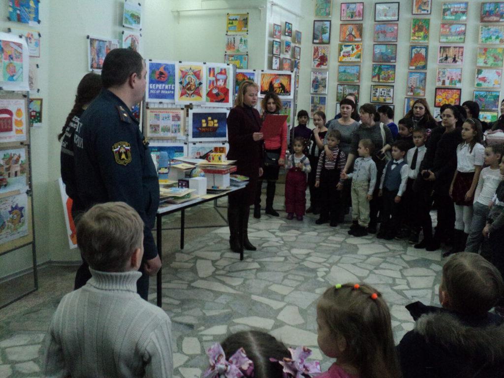 В художественном музее 02.03.2018 года состоялось открытие выставки по пожарной безопасности «Неопалимая купина».