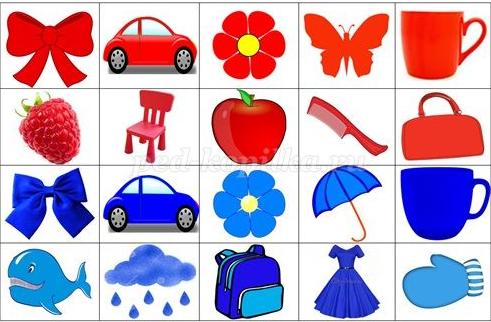 Игровые упражнения для формирования и закрепления словаря прилагательных и основных цветов у детей с общим недоразвитием речи 3-7 лет