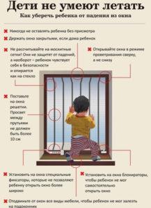 ПАМЯТКА РОДИТЕЛЯМ о профилактике случаев выпадения детей из окон